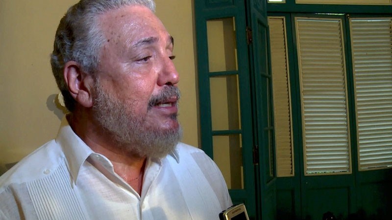File photo taken on June 1, 2016 of Cuban Fidel Castro Diaz-Balart, son of Cuban leader Fidel Castro. (AFP Photo)