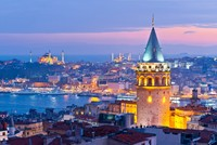 Istanbul's Galata Tower to don huge blue tie for cancer awareness