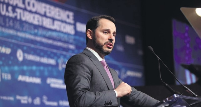 Treasury and Finance Minister Berat Albayrak addressed Turkish and American businesspeople and politicians during the 37th Annual Conference on Turkey-U.S. relations in Washington D.C., April 15, 2019.