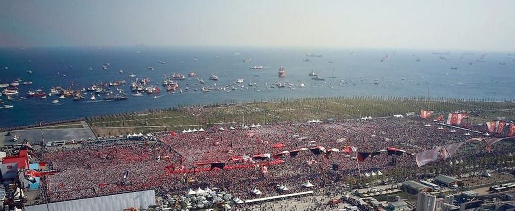Millions across Turkey come together in spectacular display of unity