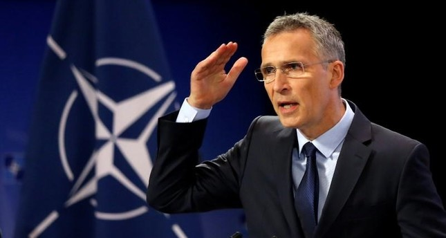 Stoltenberg addresses a news conference ahead of a NATO defence ministers meeting at the Alliance headquarters in Brussels, June 28, 2017. (REUTERS Photo)