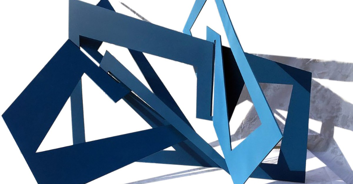 Nermin u00dclker uses metal, mostly stainless steel and weathering steel in her works.