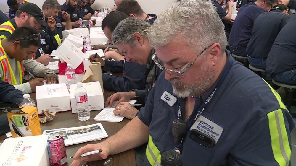 Borusan workers in the Baytown factory wrote a letter to U.S. President Donald Trump to stop steel and aluminum import tariffs.