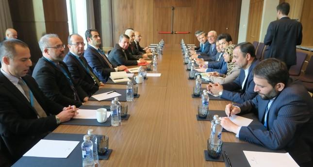 اجتماع بين الوفدين التركي والإيراني على هامش الاجتماع الـ14 للدول الضامنة لمسار أستانة