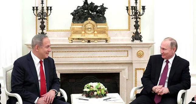 نتنياهو يبحث مع بوتين ضرورة إبعاد إيران عن التسوية في سوريا