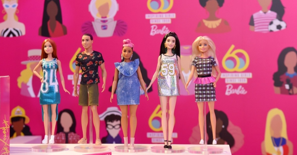 To celebrate 60 years of inspiring girls, Barbie hosts an interactive pop-up in New York City, to highlight the brand's past, present and future, Friday, March 8, 2019 (AP Photo)