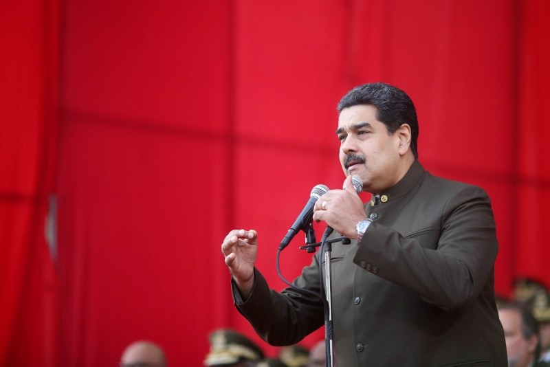Venezuela's President Nicolas Maduro attends a military parade for the transmission of National Guard command in Caracas, Venezuela January 16, 2018. (REUTERS Photo)