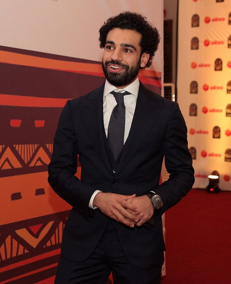 Mohamed Salah of Egypt arrives for the annual CAF (Confederation of African Football) 2017 Awards Ceremony in Accra, Ghana, Jan. 4, 2018. (EPA Photo)