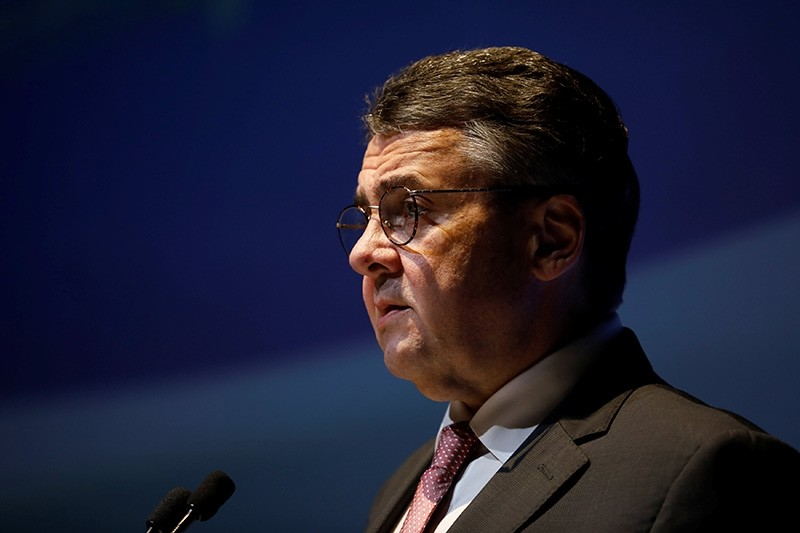 German Foreign Minister Sigmar Gabriel speaks during the 11th Annual International Institute for National Security Studies (INSS) Conference in Tel Aviv (Reuters Photo)