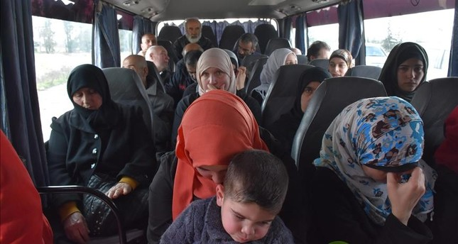 20 Syrian people are seen after they have been released reciprocatively by Assad regime and oppositions in Al- Bab, Syria within the Astana process. (AA Photo)