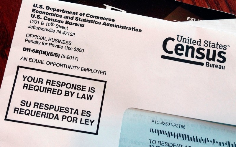 This March 23, 2018, file photo shows an envelope containing a 2018 census letter mailed to a U.S. resident as part of the nation's only test run of the 2020 Census (AP Photo)