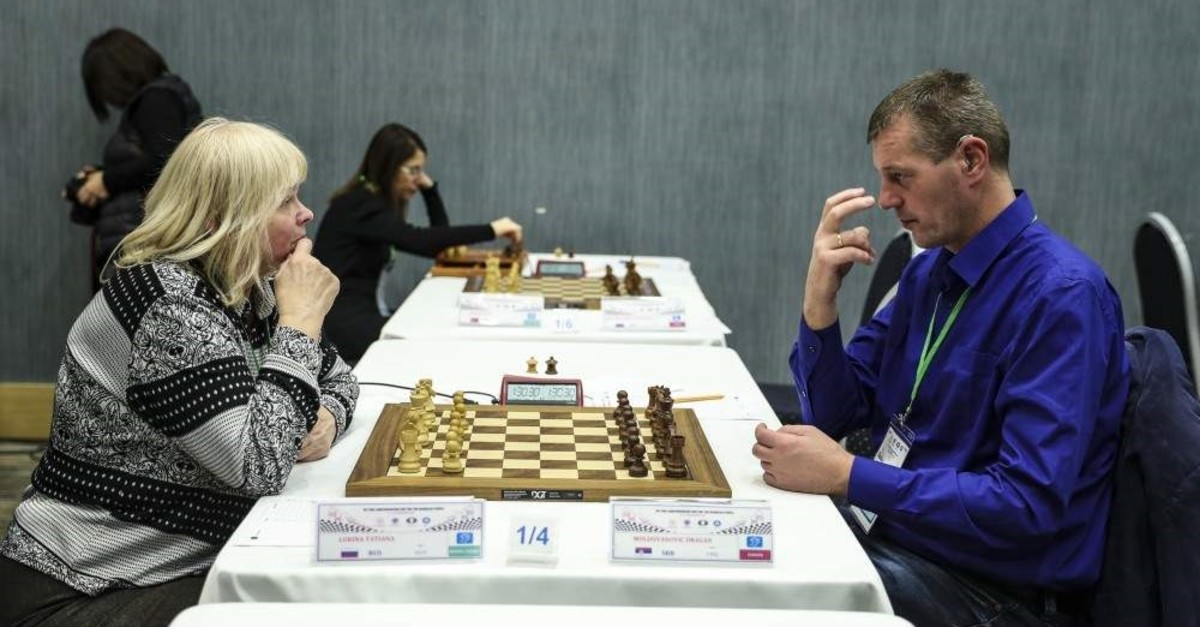 Chess players with various disabilities from 24 countries took part in the tournament in Ankara. (AA Photo)