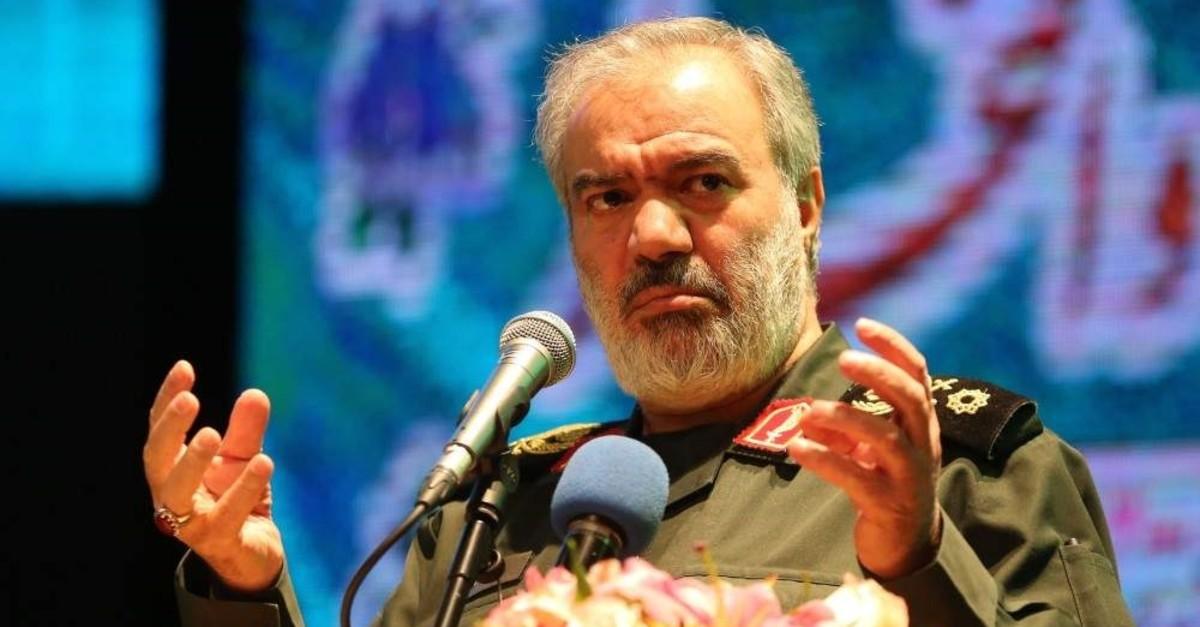 Ali Fadavi, Deputy Chief of the Islamic Revolution Guards Corps (IRGC), delivers a speech during Basij Week, Tehran, Nov. 24, 2019. (AFP Photo)
