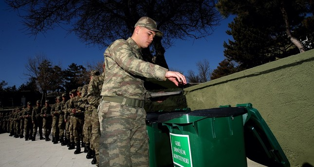 Zero Waste Project in Turkish army now as soldiers recycle food