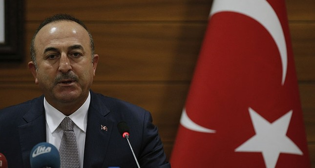 This file photo shows Turkey's Foreign Minister Mevlüt Çavuşoğlu speaks to the media during a joint news conference with Palestinian Foreign Minister Riyad al-Maliki at the Atatürk Airport in Istanbul, Wednesday, Dec. 20, 2017. (AP Photo)