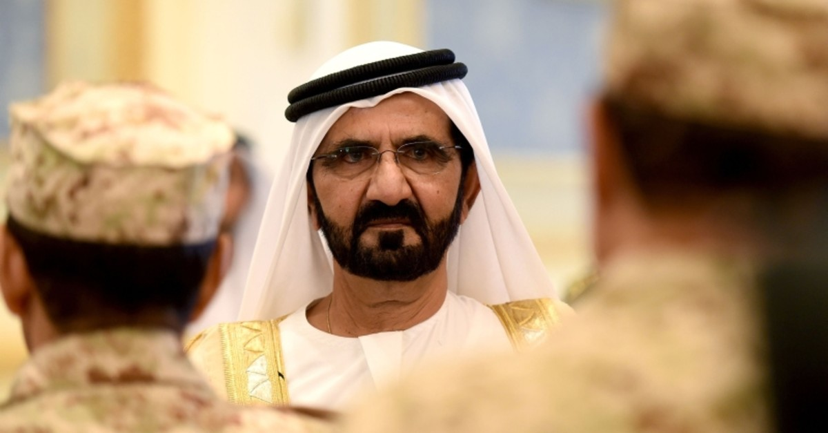 This file photo taken on May 05, 2015 shows Prime Minister of the United Arab Emirates (UAE) and ruler of Dubai, M. bin Rashid al-Maktoum, upon his arrival for a Gulf Cooperation Council (GCC) summit in Riyadh. (AFP Photo)