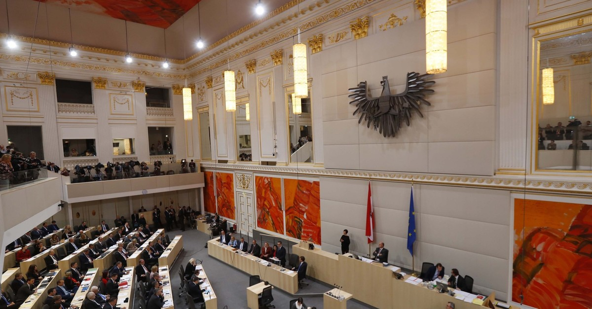 A general view of a session of the parliament in Vienna, Austria, December 20, 2017. (Reuters Photo)